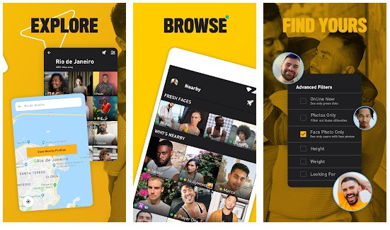 grindr for pc features